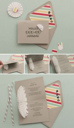 """Baby shower invite with a """"pop up"""" element inside!"""