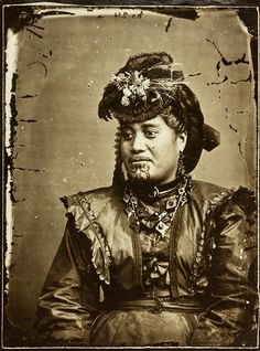 John McGarrigle (American Photographic Company) Portrait of a Maori woman. c1870