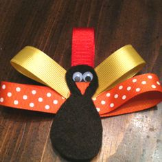 Cute Thanksgiving Hairbow