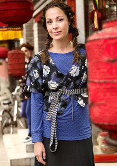 """Käännettävä puserojakku """"Xiang"""" puuvillaa/viskoosia – Takit & jakut – GUDRUN SJÖDÉN - vaatteita verkossa ja postimyynnissä"""