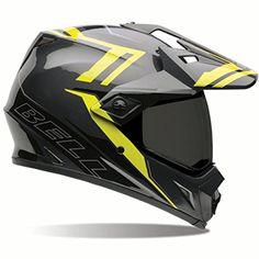 Bell MX-9 Adventure Barricade Dual Sport Helmet Hi Vis Yellow/Gray XL