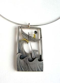 by Becky Crow crest of wave pendant