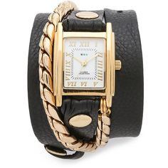 La Mer Collections Cable Chain Wrap Watch (4,270 THB) ❤ liked on Polyvore