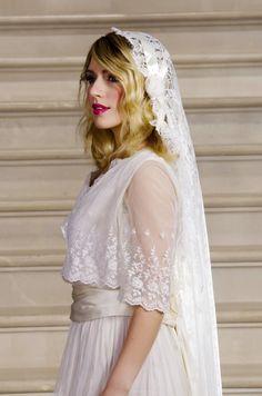 Lace Cap Wedding Veil, Darcey