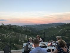 The perfect view for a perfect summer party, dinner or just to let all of your impressions for the day sink in. Italia, Italy, Piemonte, Cuneo, Valdivilla ❤️