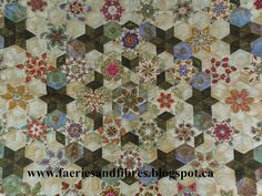Half Hexagon Quilt Variations | fun way to fussy cut interesting stars from a single fabric