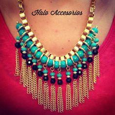 Collar Cerdeña   www.facebook.com/HaloAcc