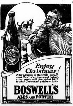 ales and porter for santa claus Christmas Beer, Retro Christmas, Vintage Santa Claus, Vintage Santas, Coca Cola Ad, Old Ads, Vintage Cards, Advertising, Alcohol