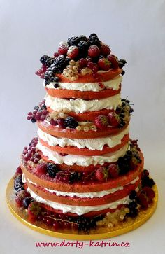 Naked cake - nahý dort