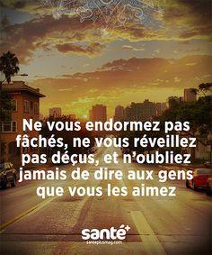 #Citations #vie #amour #couple #amitié #bonheur #paix #Prenezsoindevous sur: www.santeplusmag.com Positive Mind, Positive Attitude, Love Words, Beautiful Words, Motivational Messages, French Quotes, Magic Words, Favorite Words, Life Inspiration