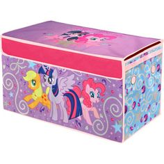 The My Little Pony Collapsible Storage Trunk makes a perfect addition to your child's bedroom, closet, or playroom. The storage trunk is an easy way to maintain My Little Pony Bedroom, Little Girl Rooms, Little Girls, Storage Trunk, Toy Storage, Kids Toy Boxes, Kids Toys, Toy Trunk, My Little Pony Stickers