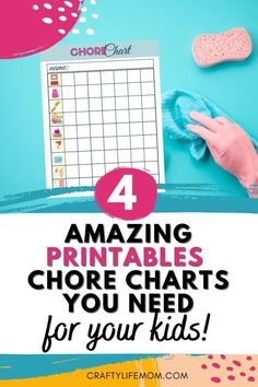 Customize a chore chart for your child using this free printable chore chart. Using a picture checklist to help your kids manage the daily tasks and chores helps to raise them into a competent adult.  #chore #chart #printable #free Printable Day Planner, Free Printable Chore Charts, Printable Labels, Free Printables, Page Protectors, Easy Craft Projects, Day Planners, Activities For Kids, Something To Do