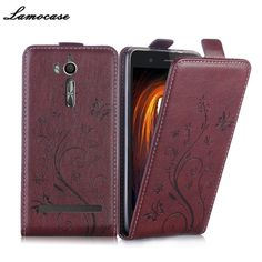 Lamocase Embossing PU Leather Case For Asus ZenFone Go ZB552KL  5.0 Inch Flip Cover For Asus ZB552KL Phone Back Protective Cases #Affiliate
