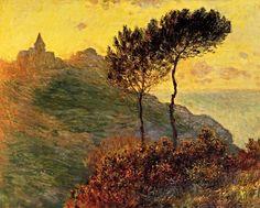 Claude Monet, The Church at Varengeville, against the sunset