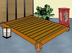 Bauanleitung für ein japanisches Bett Marke Futon