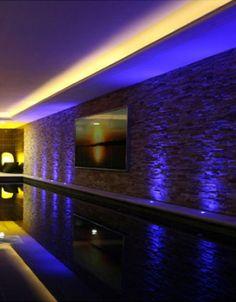 indoor swimming pools(Cool Pools I Want) Luxury Swimming Pools, Luxury Pools, Indoor Swimming Pools, Dream Pools, Swimming Pool Designs, Beautiful Pools, Cool Pools, Pool Landscaping, Pool Houses