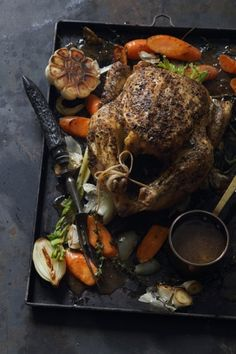 Roast Chicken with Black Truffle Jus recipe with NOMU Chicken Fond Tunisian Food, Black Truffle, Roast Chicken, Roasted Vegetables, Main Meals, Pot Roast, Food Inspiration, Great Recipes, Chicken Recipes