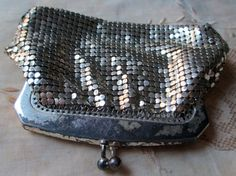 vintage chain mail change purse silvertone by TheParisCarousel, $21.50