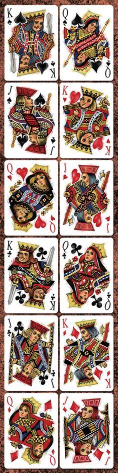 "Bicycle Disruption Playing Cards - Collectable Playing Cards / Forma como se relacionam as ""simetrias"""