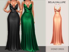 Belaloallure_sydney dress - The Sims 4 Sims 4 Mods Clothes, Sims 4 Clothing, Sims 4 Dresses, Formal Dresses, Formal Wear, Short Dresses, Wedding Dresses, The Sims 4 Cabelos, The Sims 4 Packs