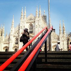 up from the metro #milano