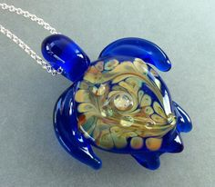Hey, I found this really awesome Etsy listing at https://www.etsy.com/listing/110413757/lampwork-turtle-cobalt-blue-glass-raku