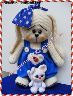 Sweet Bunny-AmigurumiTRDesignTeam por AMIGURUMITRDESIGN en Etsy ☆