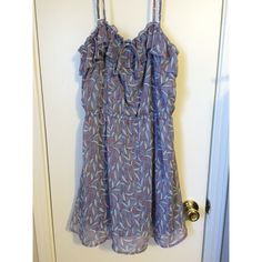 Light Purple Patterned Sundress Cinched waist and adjustable straps! Looks cute on with or without a cardigan! Very good condition, worn maybe once or twice  Mossimo Supply Co Dresses