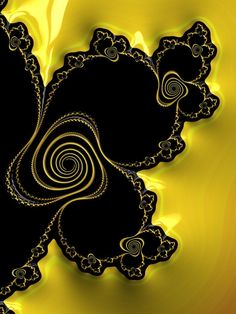 Fractal Geometry, Sacred Geometry, Fractal Images, Fractal Art, Black Love, Black N Yellow, Color Yellow, Crystal Growth, Shades Of Black