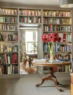 Trendy home library room study shelves ideas Library Room, Library Ideas, Dream Library, Beautiful Library, Library Inspiration, Home Libraries, Reading Room, My Dream Home, Home Office