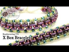 "Beadweaving "" X Box "" Bracelet (QuadraTile Beads) - YouTube"