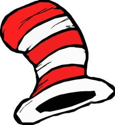free printable cat in the hat hat in either color or black rh pinterest com cat in the hat clipart with no background cat in the hat clip art free