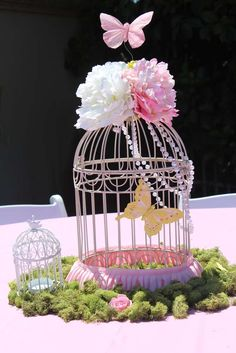 Garden Bash/ The birds.The Butterflies and the flowers! Birthday Party Ideas Garden Bash / The bir Butterfly Garden Party, Butterfly Birthday Party, Butterfly Baby Shower, Garden Birthday, Fairy Birthday Party, Birthday Parties, Butterfly Kisses, Flowers Garden, Party Garden
