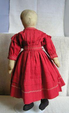 19th C Pennsylvania Cloth Doll