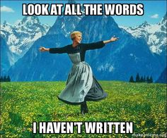 Ugh, I have to use the thesaurus in order to use different words. xD