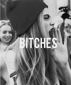 cara delvigne, bitches, bitch, black and white, cool, scream
