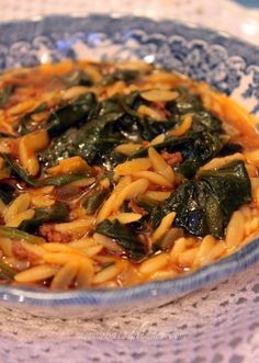 Spinach and Orzo