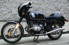 1980 BMW R100T. Optional sport fairing and seat mod.