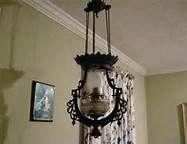 antigue iron hanging lamp
