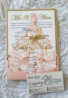 Click Image to Buy or Custom your own invitations ideas Quinceanera Formal Invitations Sweet 15 Invitations, Quince Invitations, Debut Invitation, Princess Invitations, Doily Invitations, Formal Invitations, Wedding Gift Card Box, Gift Card Boxes, Wedding Cards