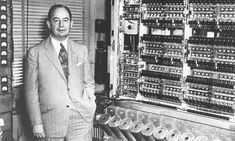 John von Neumann with the stored-program computer at the Institute for Advanced Study, Princeton, New Jersey, in 1945.