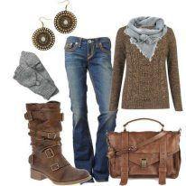 combinaciones de ropa con botines cafes