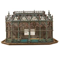 19th-century birdcage in the Neo-Gothic style