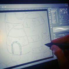 I'm working on something new for my concept art portfolio. I hope I'll have some time this week to finish it . ____ Pracuje nad czymś nowym do mojego konceptowego portfolio . Wszystko jak zwykle związane z uniwersum Matyldy tym razem będzie to sam duszny dom - czyli pensjonat ciotki Matyldy. Przypomina troche ul . Postanowiłam trochę powalczyć z rysowaniem lokacji. Zobaczymy jak pójdzie . ____ #drawing #sketch #digitalsketch #madewithwacom #ps #environment #conceptart #environmentconcept…