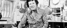 Julia Child in her French kitchen on Simca's estate.