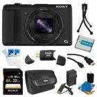 Bundle includes: Cyber-shot DSC-HX50V 20.4 MP 30x Optical Zoom WiFi Digital Camera 32GB SDHC/SDXC Class 10 UHS-1 R40 Memory Card (SF32UY/TQMN) NP-BX1 1600MAH Battery Pack for the Select Sony Cameras and Camcorders Compact Digital Camera Deluxe Carrying Case – BTC4 Premium Tech AC/DC  Battery Charger For the Sony NP-FV50, FV70 & FV100 battery. High Speed