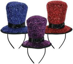Sparkling Top Hat Headbands Case Pack 12