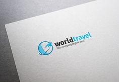 World Travel Logo by XpertgraphicD on Creative Market