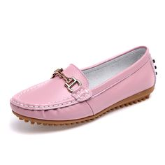 Sale 20% (24.26$) - Metal Pure Color Soft Sole Flat Casual Loafers For Women