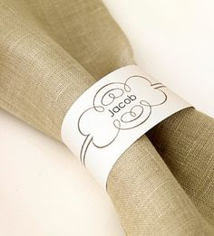Download and print paper napkin rings (change color of paper to mix up the look!)